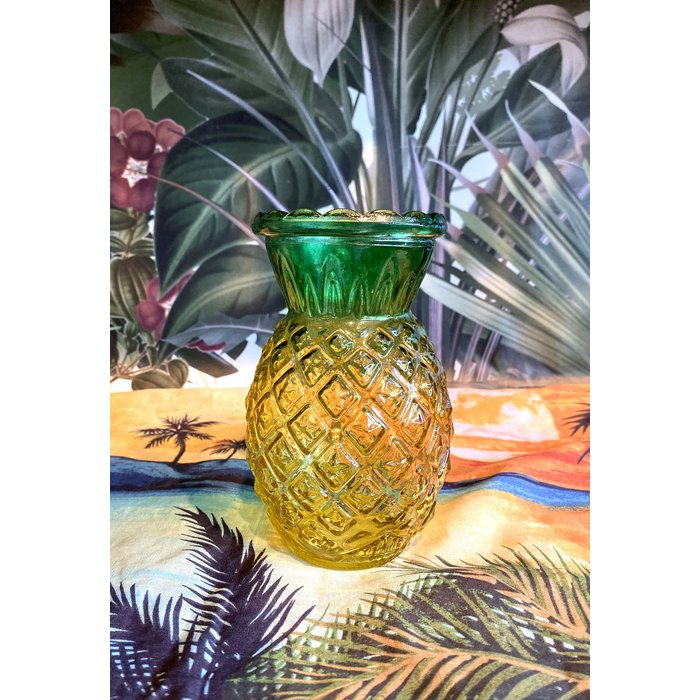 Pineapple Glass Tiki Mug, 20oz