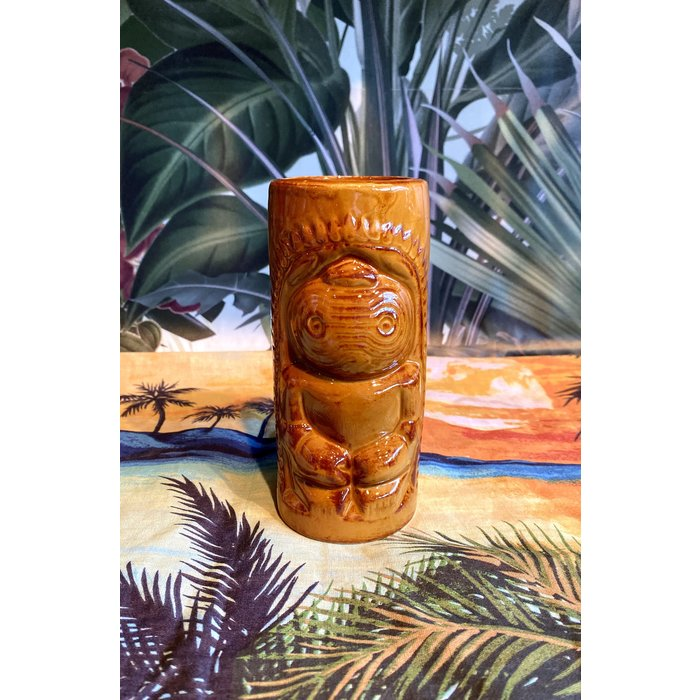 Brown Tiki Mug, 12 oz.