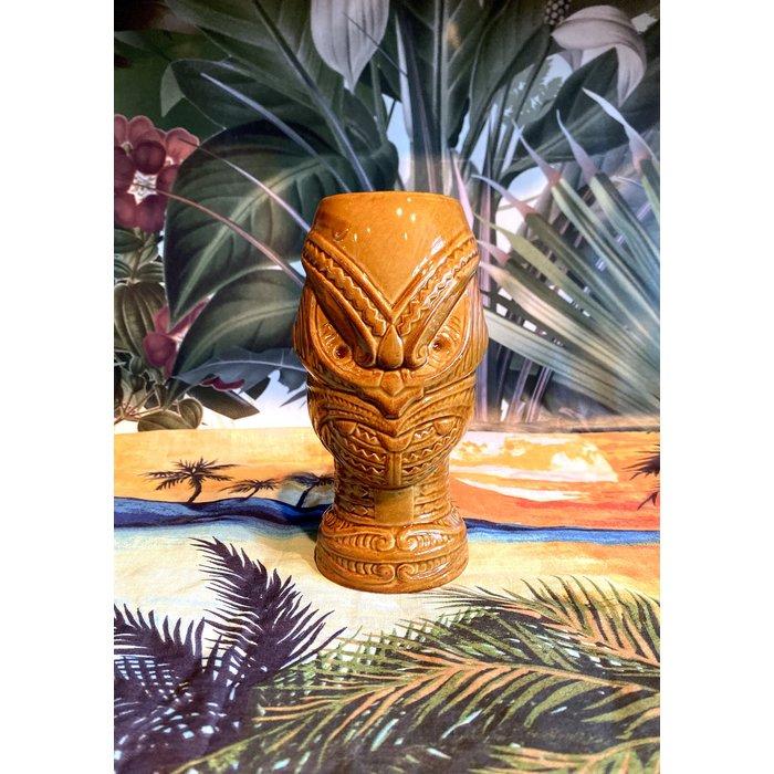 Head Hunter Tiki Mug, Brown 15 oz.