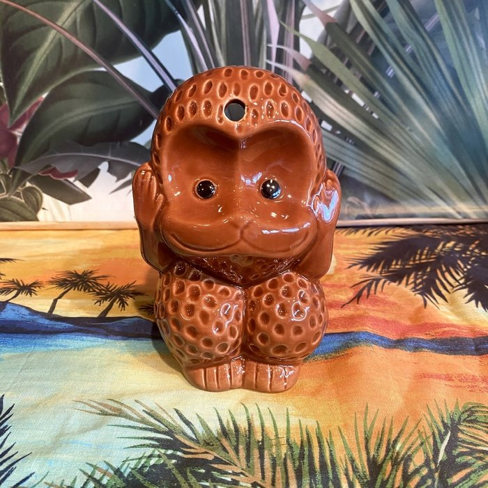 Monkey Hear, See, Say, Tiki Mug, 12 oz.