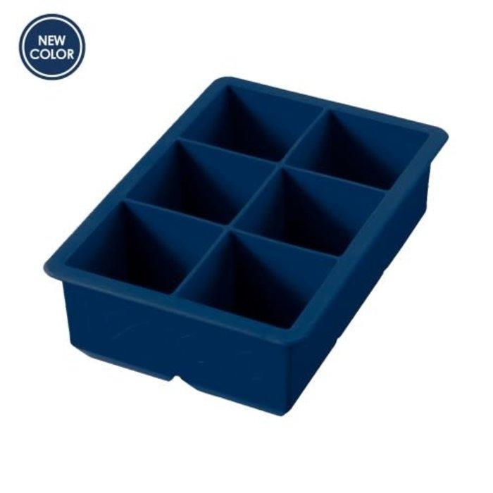 """Tovolo King Cube 2x2"""" Ice Tray, Deep Indigo"""