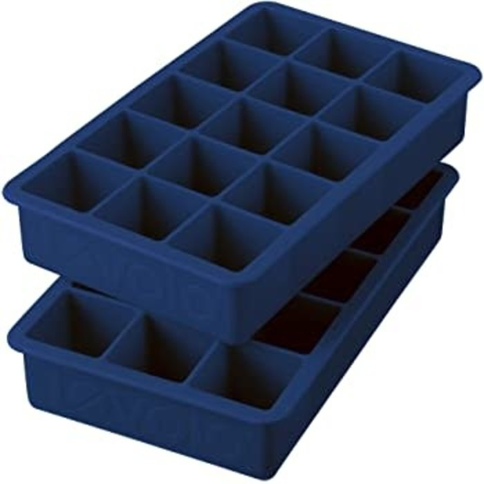 Perfect Cube Ice Trays, Deep Indigo - Set of 2