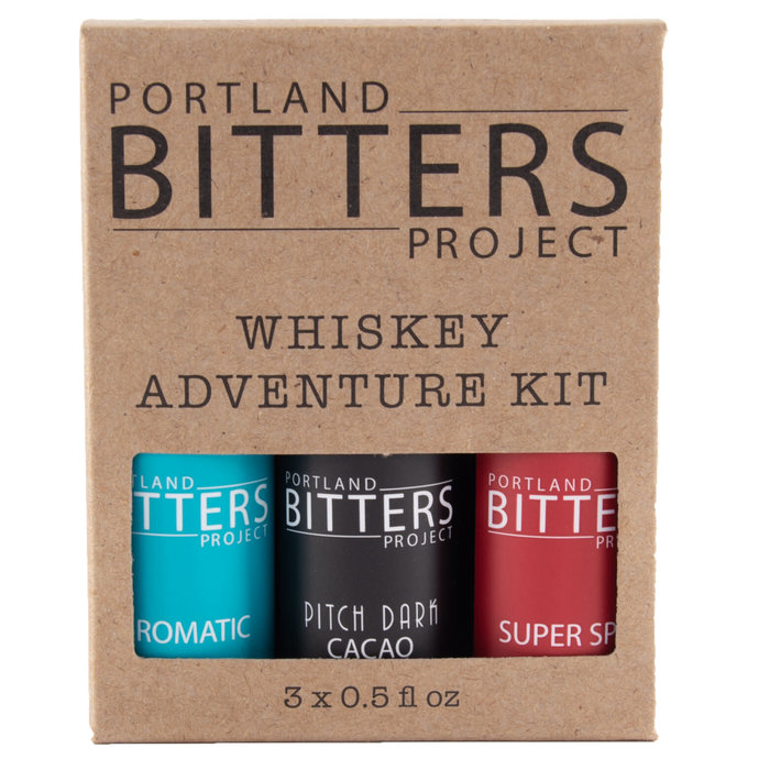 Portland Bitters Project Whiskey Kit, Aromatic/Cacao/Super Spice, 3x0.5oz