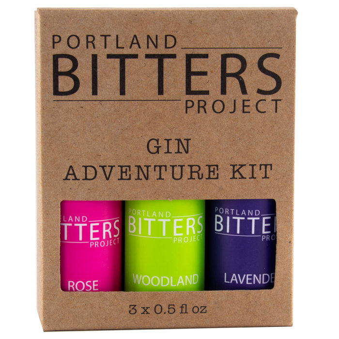 Portland Bitters Project Gin Kit, Rose/Woodland/Lavender, 3 x 0.5oz