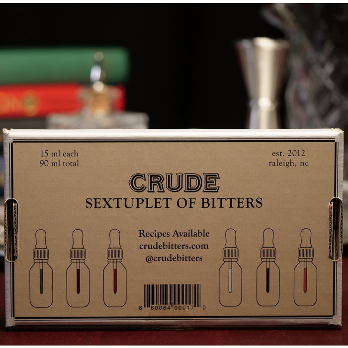 Crude Bitters Sample Set, 6x .5oz