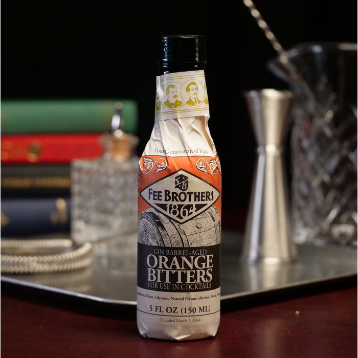 Fee Brothers Old Tom Gin Barrel-Aged Orange Bitters, 5 oz.