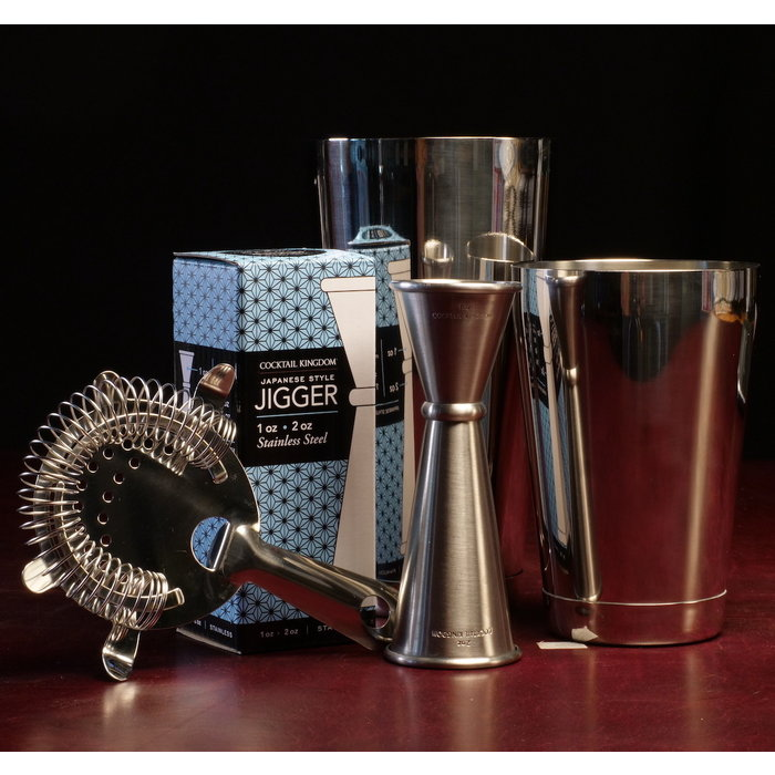 The Stainless Steel Shaker Set - Japanese Jigger