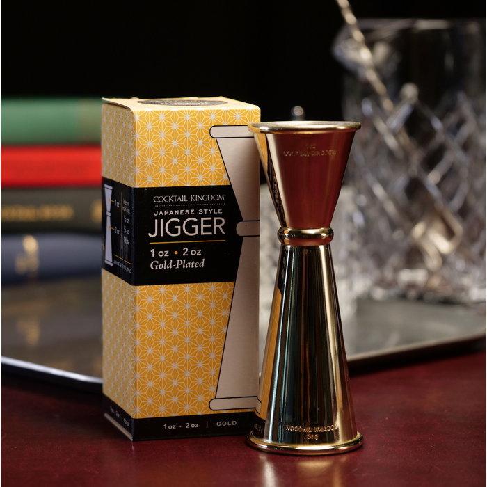 Japanese-Style Jigger, Gold Plated 1oz x 2oz