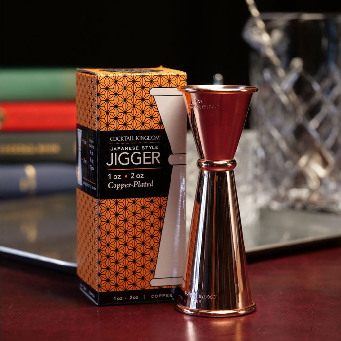 Cocktail Kingdom Japanese-Style Jigger, 1oz x 2oz Copper-Plated
