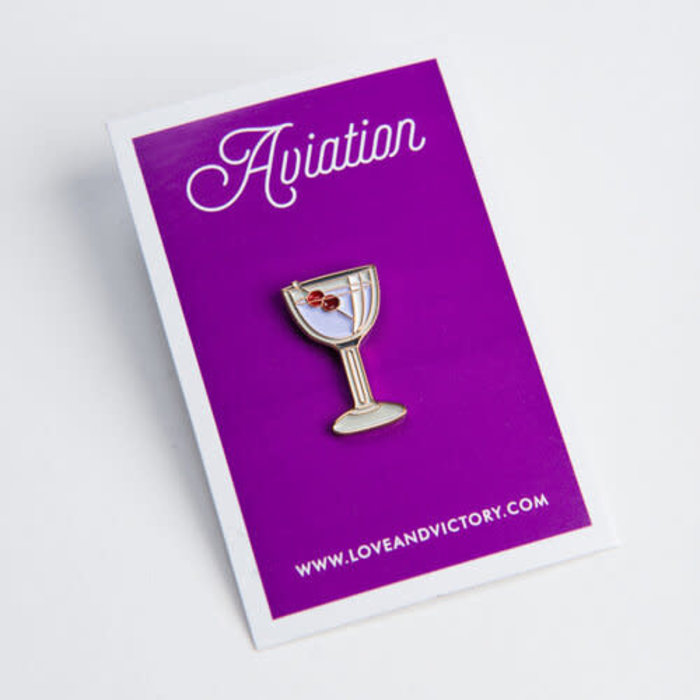 Love & Victory Aviation Pin