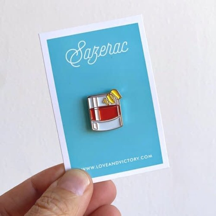 Love & Victory Sazerac Pin
