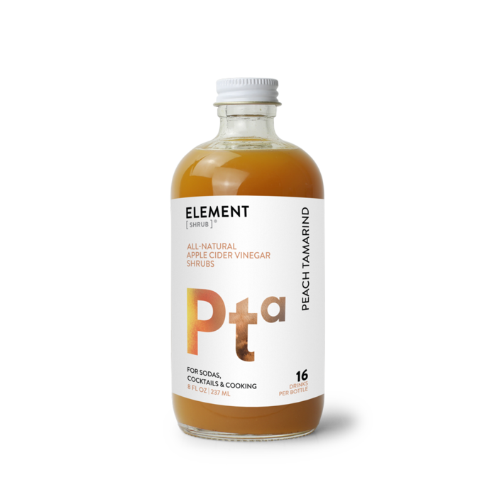Element Peach Tamarind Shrub, 8oz