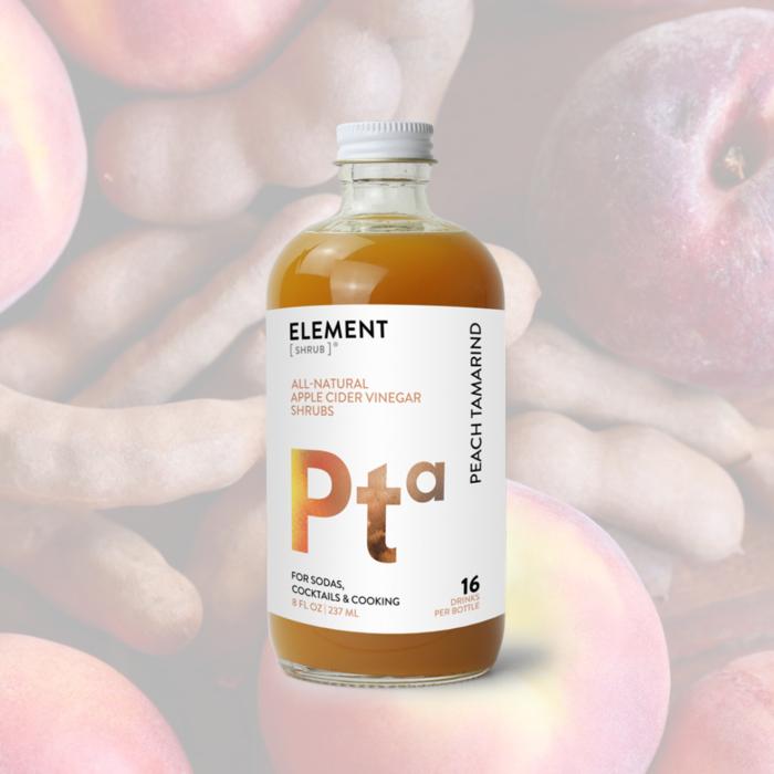 Element Peach Tamarind Shrub, 8oz