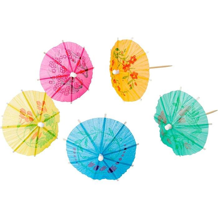 Tropical Drink Umbrellas, Single