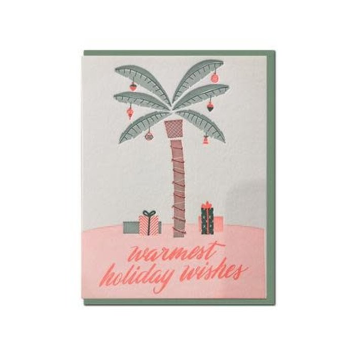 "Violet Press ""Warmest Wishes"" Letterpress Greeting Card"