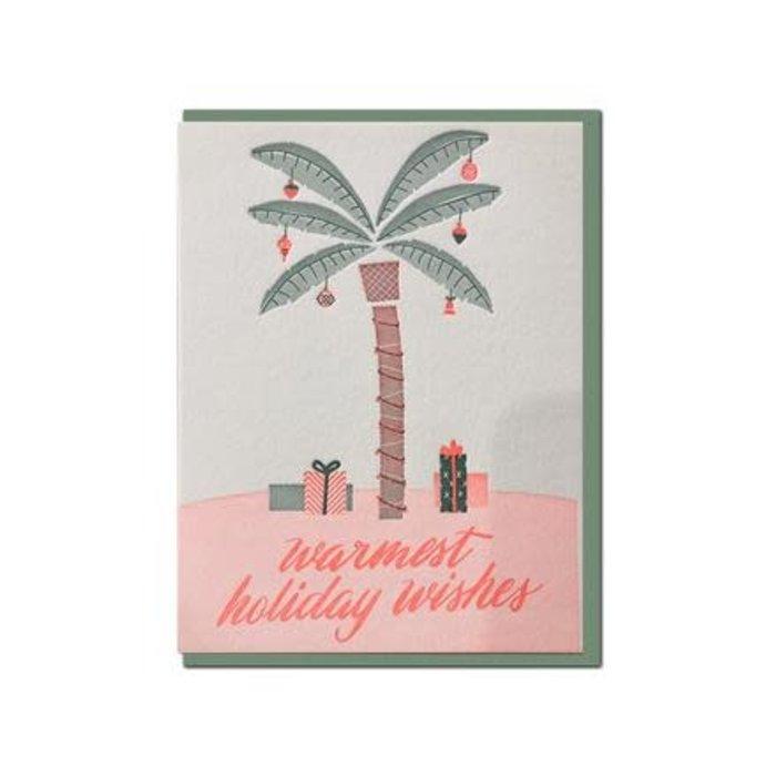 """Warmest Wishes"" Letterpress Greeting Card"