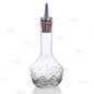 Bitters Bottle with Cork Dasher, Diamond Etch, 3oz