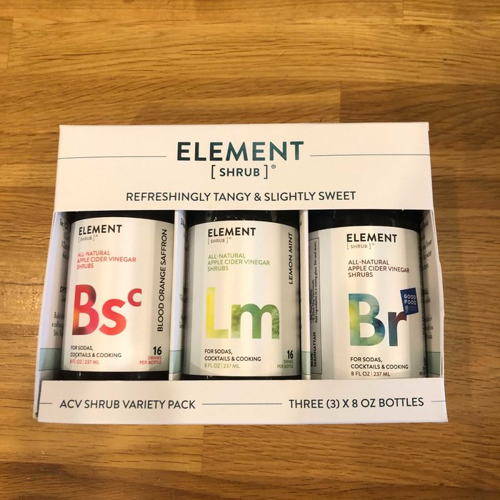 Element Shrub Variety Pack, 3x - 8oz Bottles