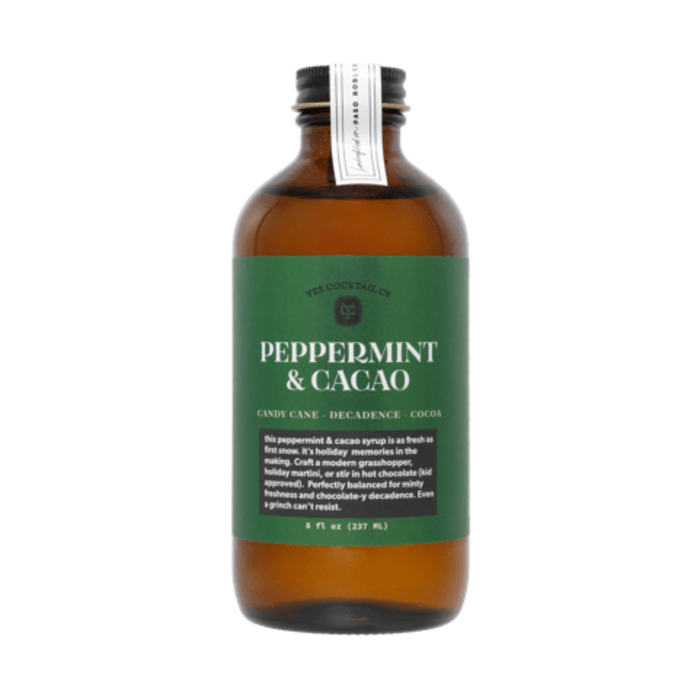 Yes Cocktail Co. Peppermint and Cacao Syrup, 8oz