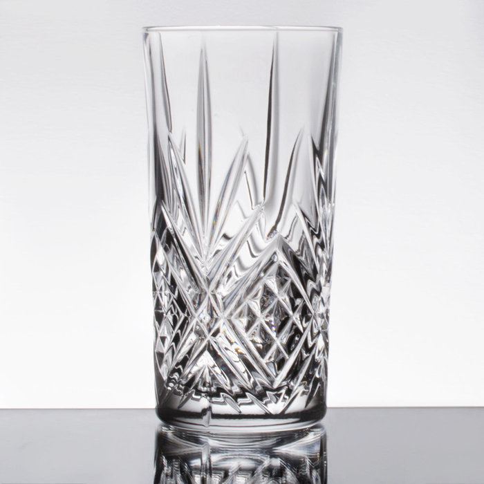 Heavy Sham Highball Glass, Pineapple Design, 12 oz.