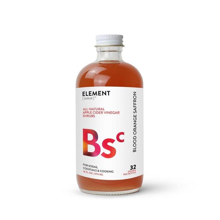 Element Blood Orange Saffron Shrub, 8oz