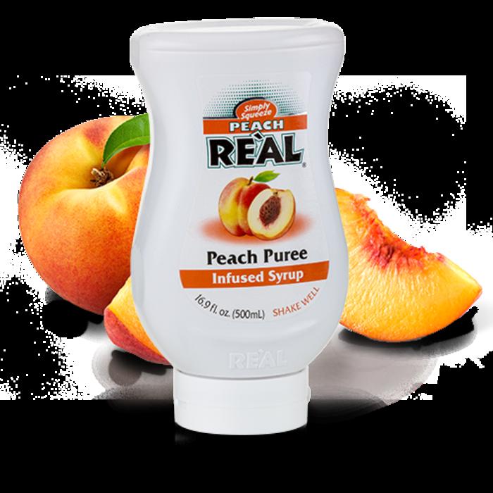 Peach Reàl Peach Puree, 16.9oz/500ml