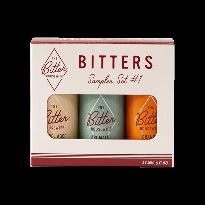The Bitter Housewife Bitters Sampler Set #1, 3x 1oz bottles