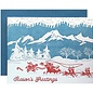 """Mountain Christmas"" Letterpress Greeting Card"