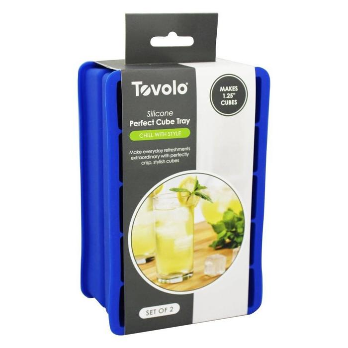 Tovolo Perfect Cube Ice Trays, Blue