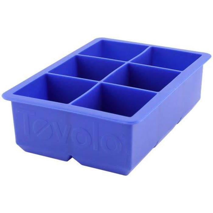 "Tovolo King Cube 2x2"" Ice Tray, Stratus Blue"