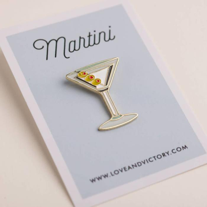 Love & Victory Martini Pin