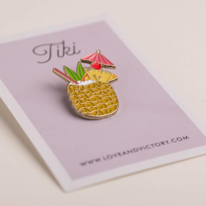 Love & Victory Tiki Pin