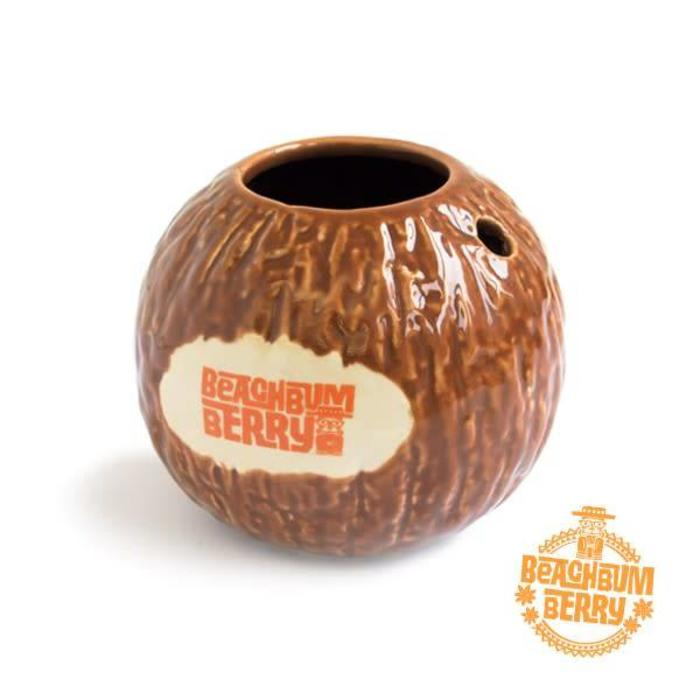 Cocktail Kingdom Beachbum Berry's Coconut Mug, 15oz Ceramic