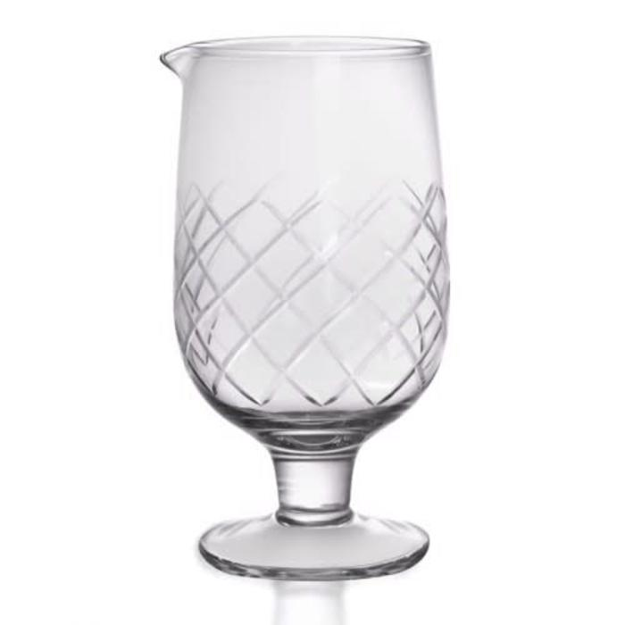 Stemmed Diamond Pattern Mixing Glass, 30 oz.