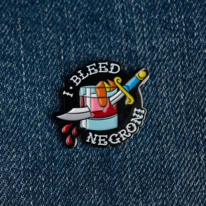Love & Victory I Bleed Negroni Pin