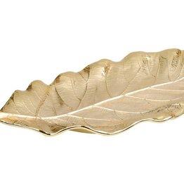 Large Gold Leaf platter 19.75