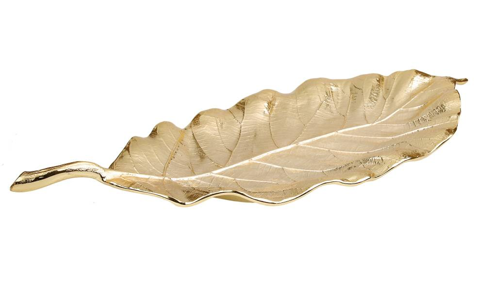 Large Gold Leaf platter 19.75