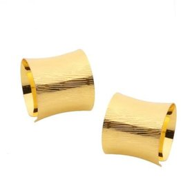 Gold napkin Rings set of 6