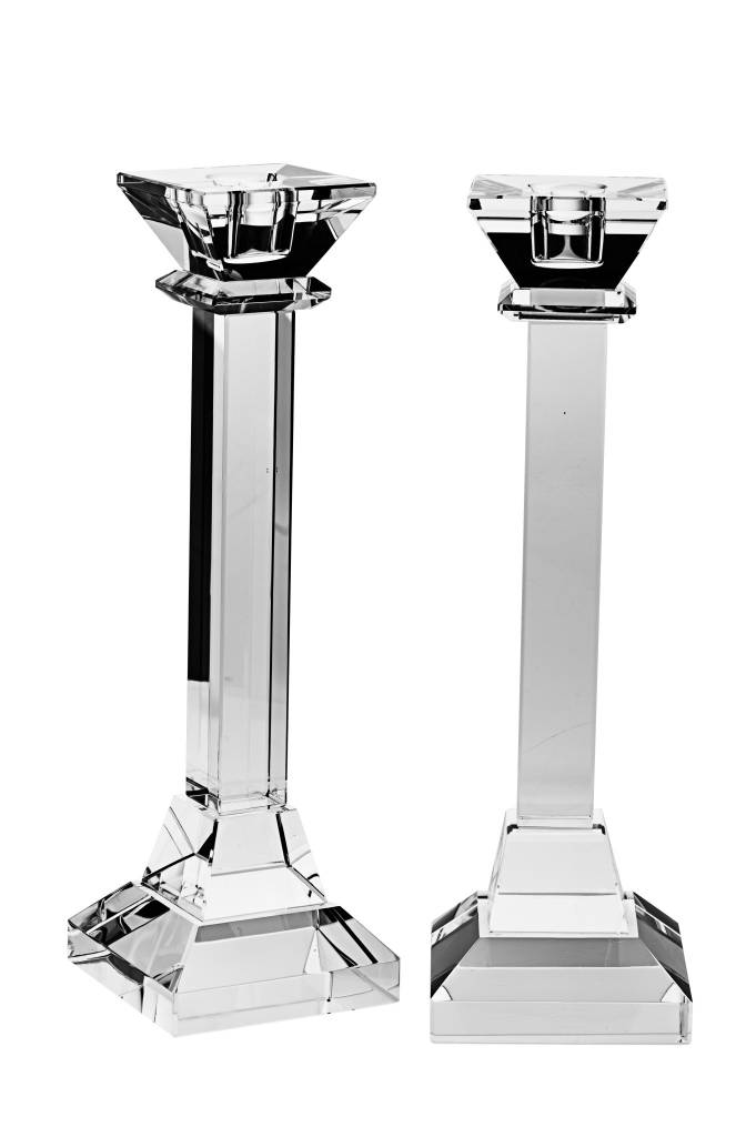 """10"""" Square Crystal Candlesticks"""
