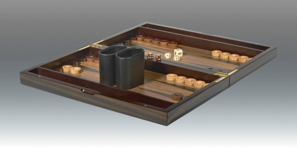 """15"""" Ebony Backgammon"""