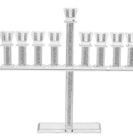 Crystal menorah with stones 12""