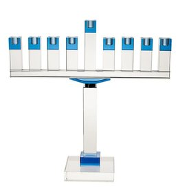 Blue Crystal Menorah 19""