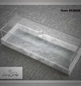 Lucite Cake Display with marble lid