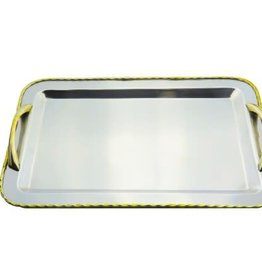 Rectangle Tray w/ Brass Border