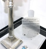 Silver Dreidel Plaque w Screws