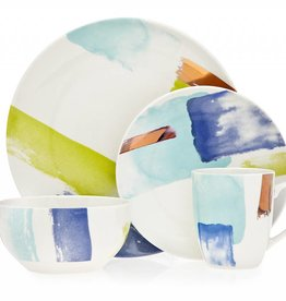 Brushstrokes 16 pc Dinnerware Set