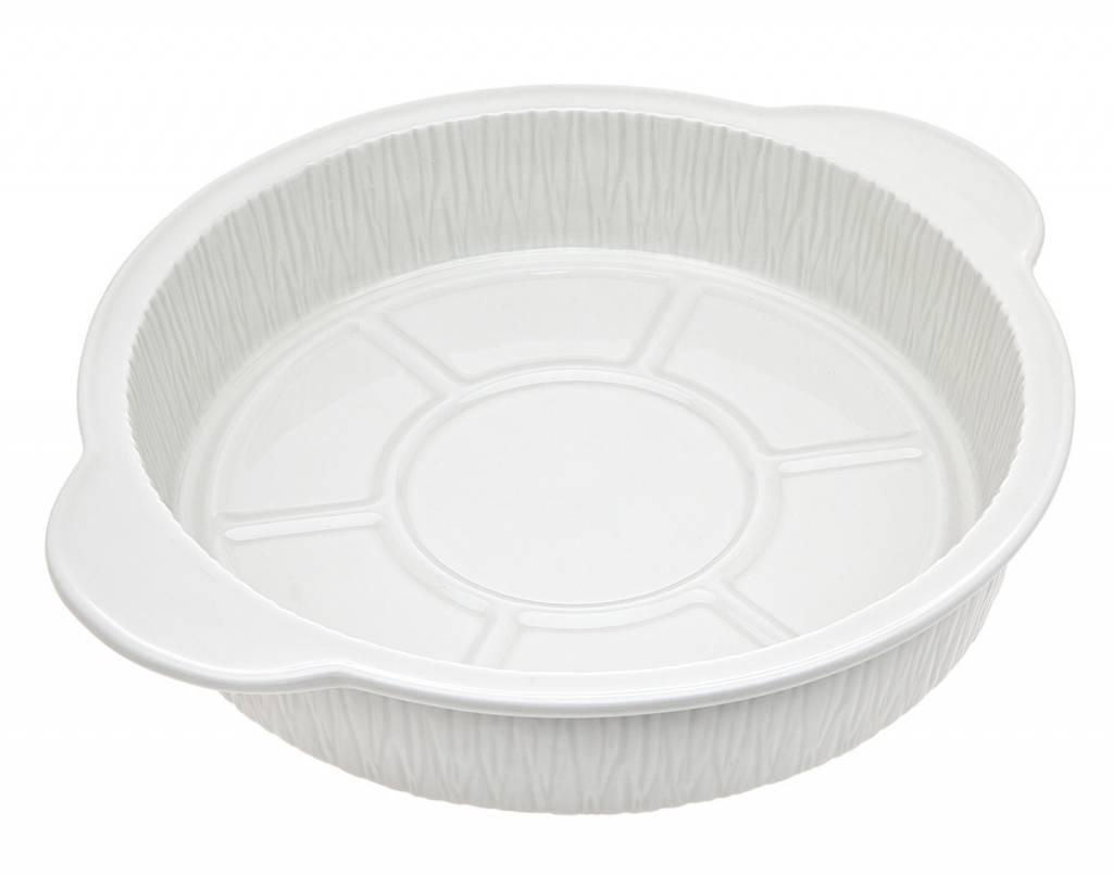 """9"""" Round white porcelain baker"""