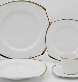 Wave Gold Square 20 Pc Dinnerware Set
