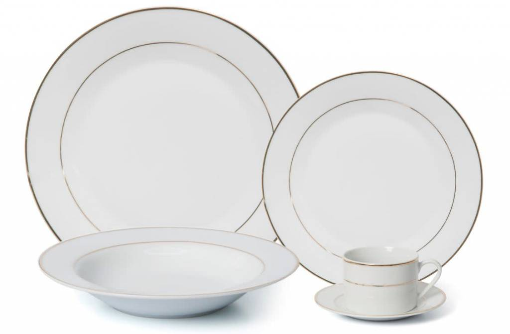 Gold Band 20 Pc Dinnerware Set