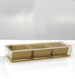 Rectangle Gold Sectional w/ 3 dip holders